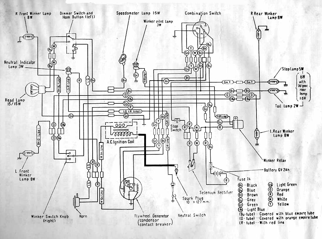 Honda C70 Passport Motorcycle Wiring Harness Diagram Diagrams Ct70 Stator Get Free Image About Wire 12 Volt Electric