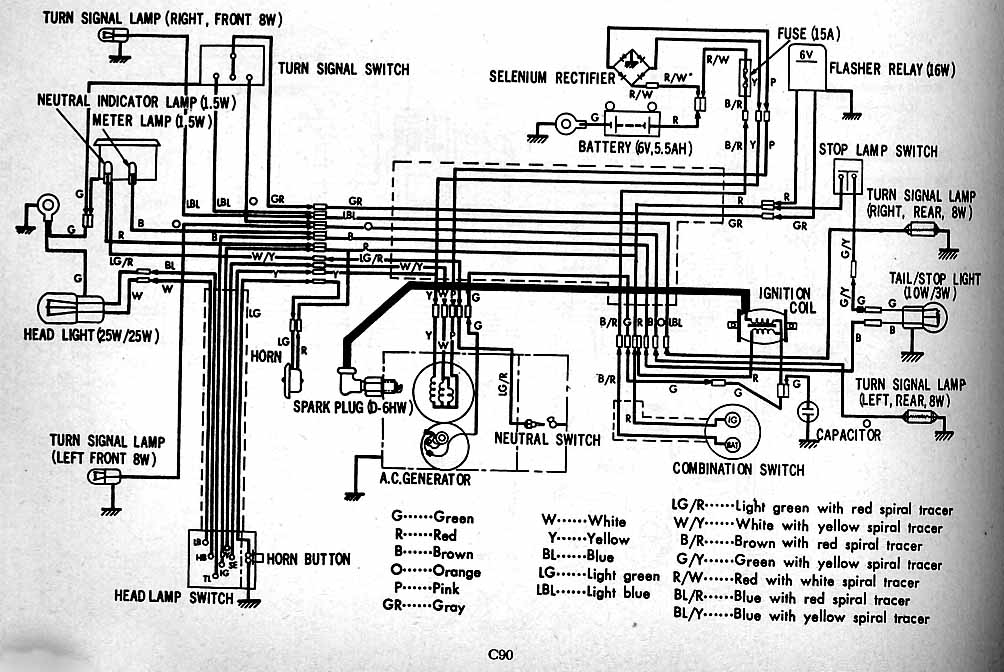 C90(Chilton) honda c90 wiring diagram 6v honda wiring diagrams for diy car honda c90 wiring diagram 6v at soozxer.org